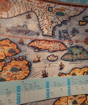 раняя карта в Музее Америки в мадриде