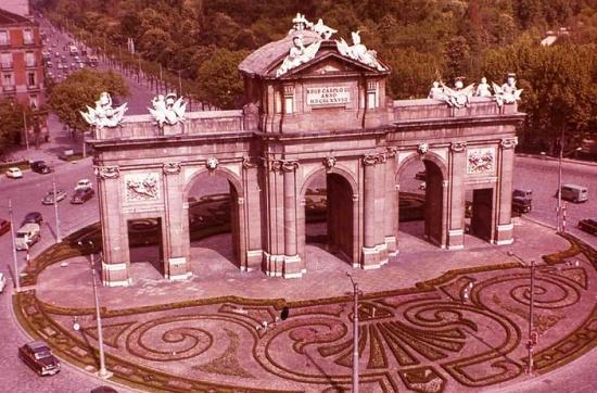 Ворота Алкала исторический вид