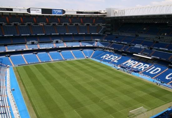 поле Стадиона Сантьяго Бернабеу