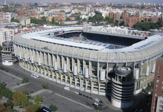 Стадион Сантьяго Бернабеу вид сверху