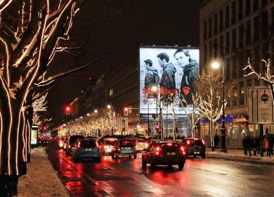 ночная улица Унтер-ден-Линден
