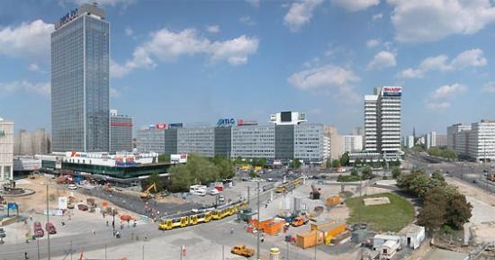 панорама площади Александерплац
