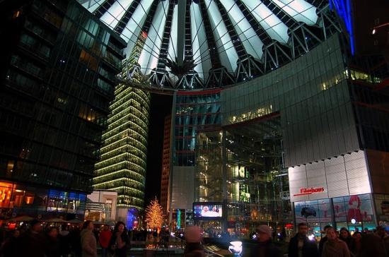 вечером на Потсдамской площади