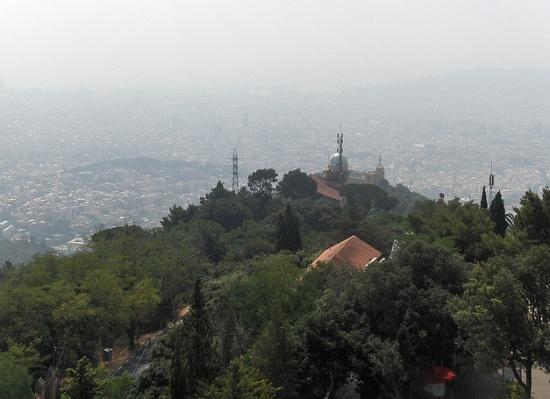 гора Тибидабо в Барселоне