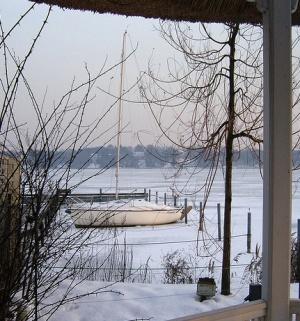 Озеро Ванзее зимой