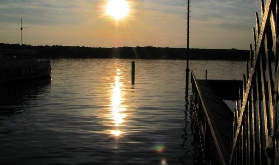 Озеро Ванзее вечером
