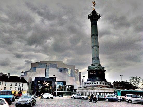 вид на площадь Бастилии