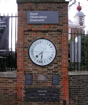 часы на воротах Гринвической обсерватории