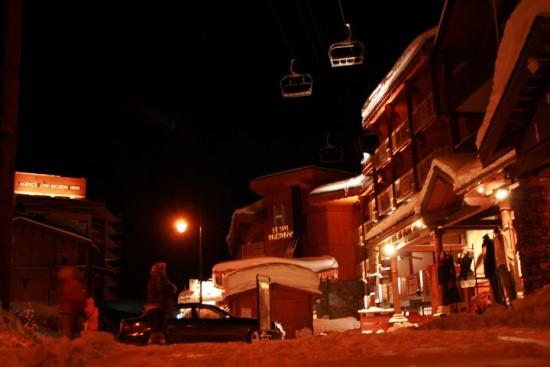Валь-Торанс ночью
