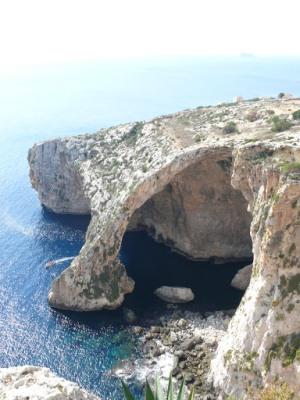 Голубой грот на Мальте, вид сверху