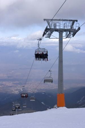 Подъемники горнолыжного курорта Банско