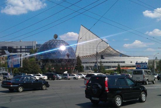 Театр Глобус, вид с площади