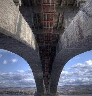 Арка Коммунального моста в Красноярске