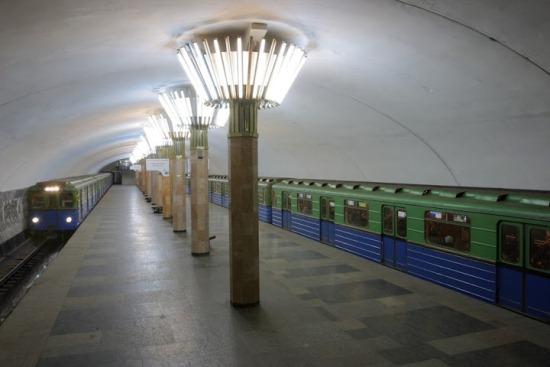 Станция метро 'Центральный рынок' возле Благовещенского базара