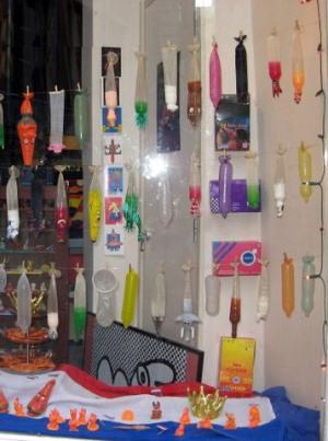 Музей презервативов в квартале красных фонарей, Амстердам