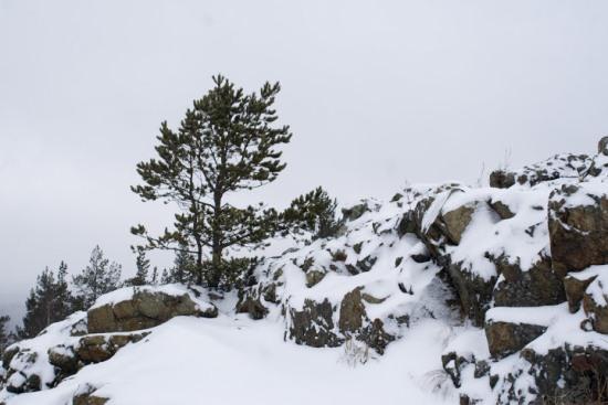 гора Азов зимой