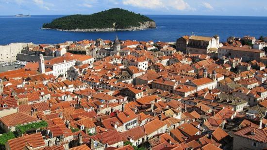 Вид на город Дубровник
