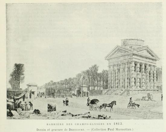 Елисейские поля в 1813 году