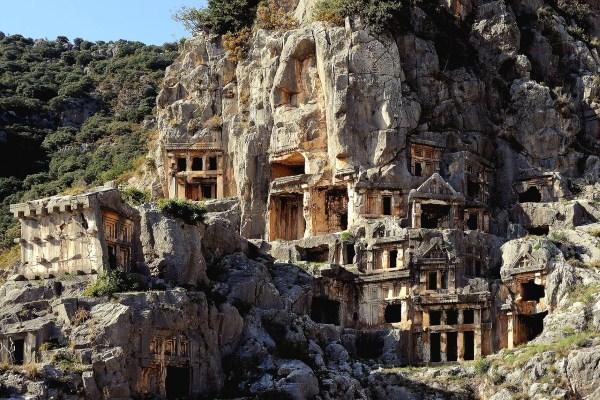 Гробницы древних ликийцев в Демре